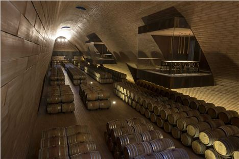 Glass, Suspended Tasting Rooms At Antinori Winery