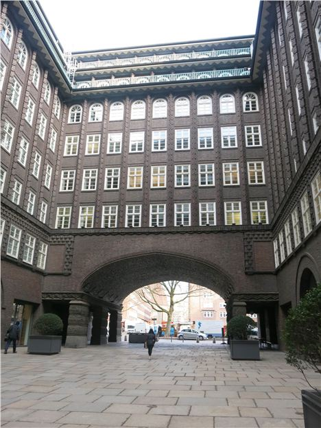 Courtyard Of The Chilehaus
