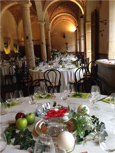 Stables Set Up For An Event Farm And Wine Estate Of Bichi Borghesi, Scorgiano