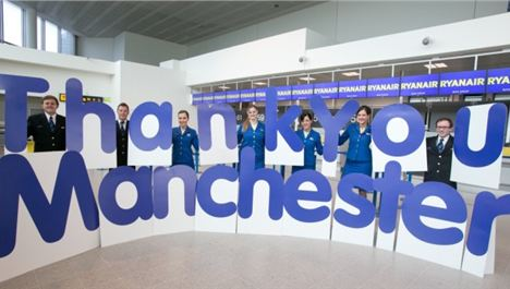 Ryanair Celebrates 11m Passengers From Manchester