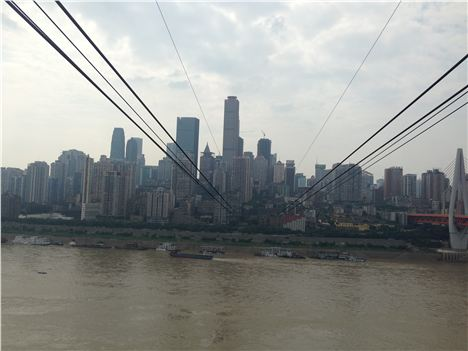 Chongqing from the cable car
