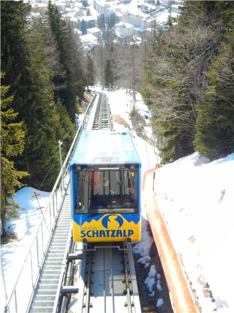 Coming Up . . . Perfect Uphill Transport On The Funicular