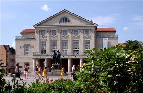 6. The National Theatre, Birthplace Of The Weimar Republic And Home To The Statues Of Local Literary Heroes, Goethe And Schiller. Image Courtesy Of Www.Visit-Thuringia.Com