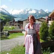 Gill In Her Traditional Dirndl