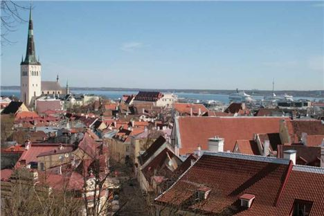 Tallinn. Views Over Tallinn's Old Town And Beyond From Toompea Hill