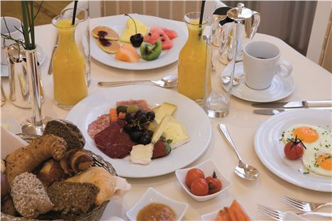 Breakfast at The Kempinski