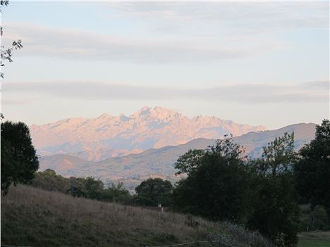 Picos de Europa as the sun sets: those mountains are more than 8,000ft