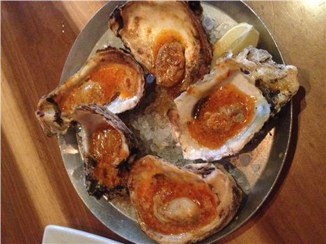 Wood-Fired Oysters In Chili Garlic Butter At Cochon In New Orleans