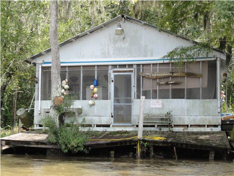 Riverside Shack On Honey Island Swamp