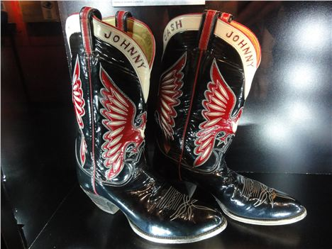 Johnny's Boots At The Johnny Cash Museum