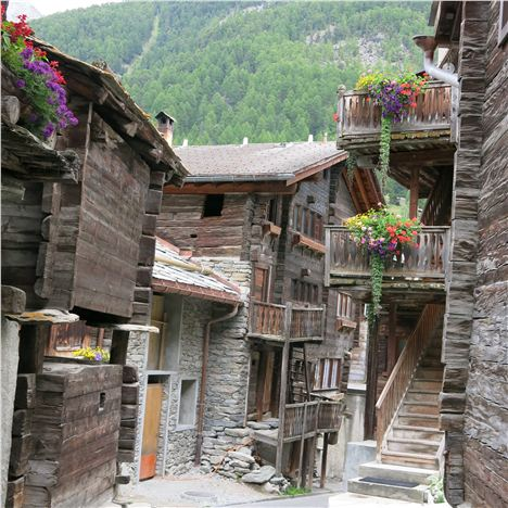 The Hinterdorf Is The Oldest Part Of Zermatt