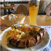Bratwurst,Rosti And Wheat Beer %26#8211%3B Perfect Restorative After An Alpine Hike