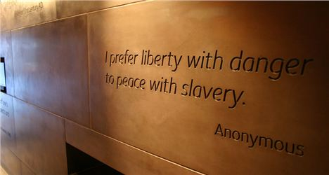 Freedom Enslavement Wall