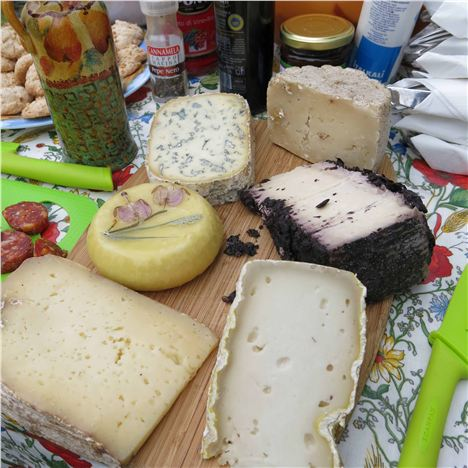 Local Bespoke Cheeses From Monforte D'alba Were The Picnic Stars