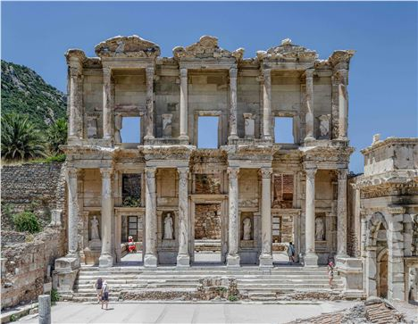 Ephesus %26#8211%3B The Facade Of The Celsus Library