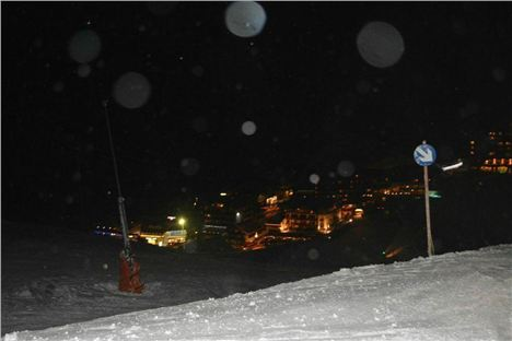 Obergurgl By Night - Heading Home - Image By Dave Mycroft