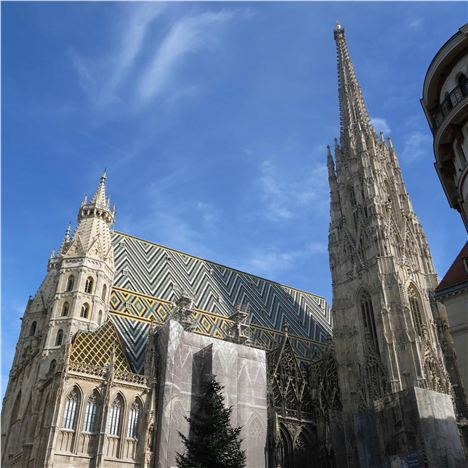Stephansdom Soars Into An Azure Sky