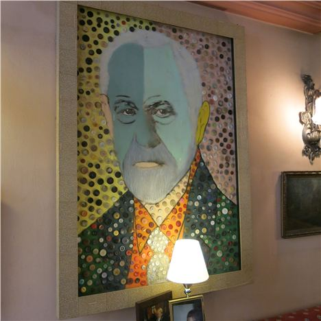 Freud Portrait With Buttons