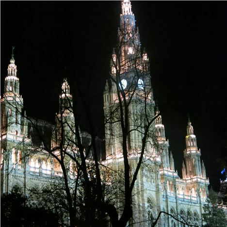 Rathaus Is Spectacular At Night