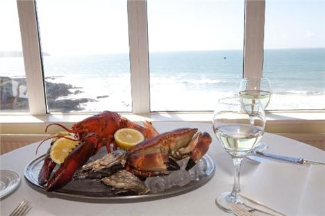 Shellfish At The Watersmeet Hotel