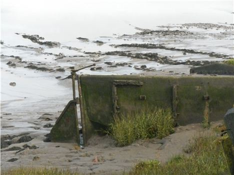 Buried . . . One Of The Purton Hulks In The Silt