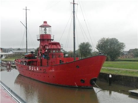 Guiding Light . . . Retired Lightship Sula At Gloucester