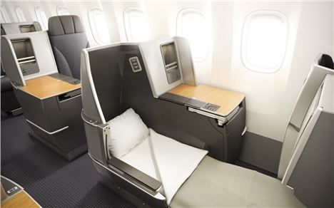 Business Class Bed, American Airlines